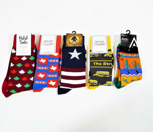 Set of 5 Assorted Novelty Crew Socks HEB, The Struggle Bus and More - NEW