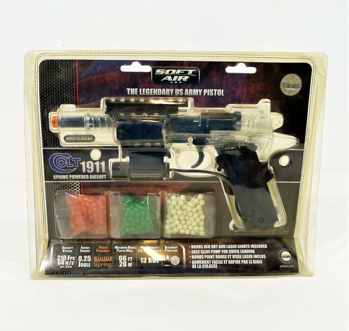 "Colt Clear 1911 6"" Target Model Soft Air Pistol 18344 - NEW IN PACKAGE"