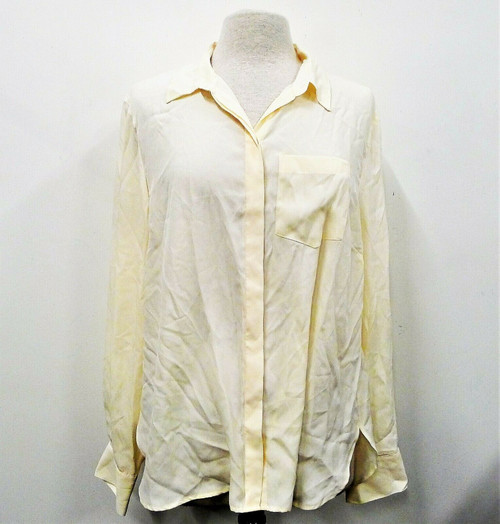 J. Crew Women's Pale Yellow Long Sleeve Button Up Shirt Size XXL - NEW WITH TAGS