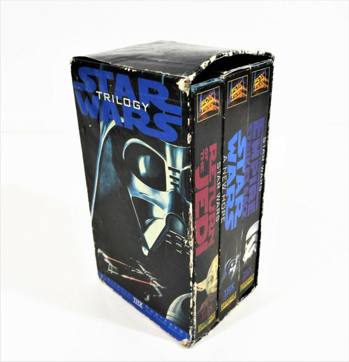 Star Wars Trilogy (VHS, 1995, 3-Tape Set) THX - ORIGINAL VERSIONS Untested
