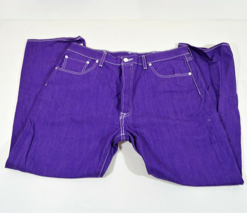 Levi's Men's Purple 501 Shrink to Fit Button Fly Jeans Size 38 x 30 - *IRREGULAR