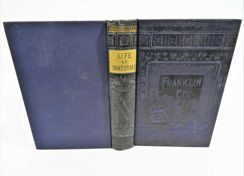Vintage 1888 Life of William Shakespeare Hardcover - Robert Waters