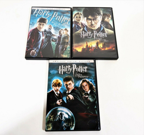 3 Harry Potter DVD Movies Includes Special Edition & Widescreen