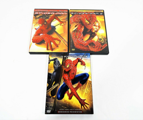 Spiderman DVD Movies Lot of 3 Spiderman, Spiderman 2 & Spiderman 3 Widescreen