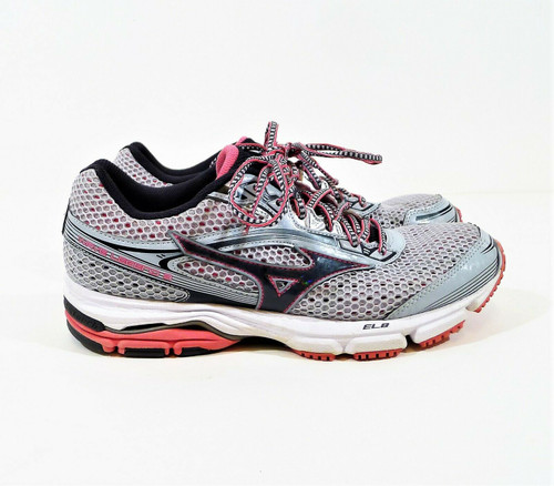Mizuno Women's Gray Mesh Wave Legend 3 Athletic Running Shoes  Size 9.5