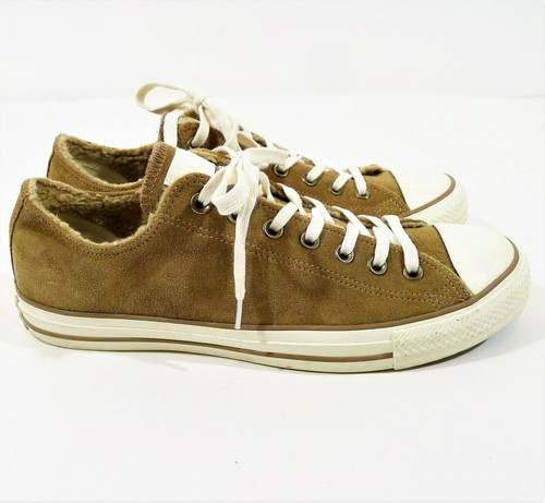 Converse Women's Tan Chuck Taylor All Star Suede Shoes Size 11