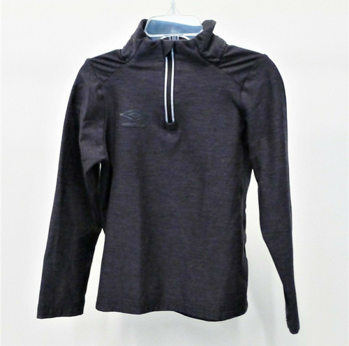 Umbro Boy's Black Long Sleeve 1/4 Zip Pull Over Shirt Size XS (4-5)