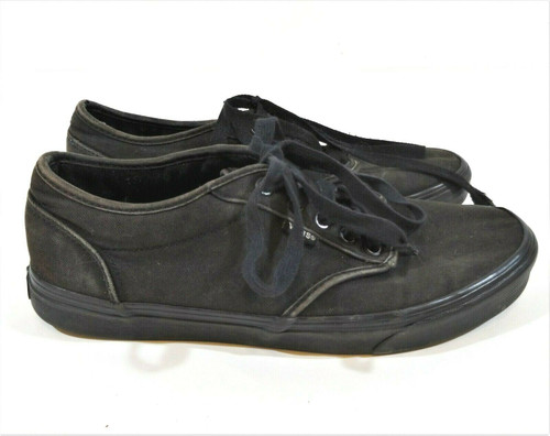 Vans Men's  Black Skateboard Canvas Shoes Size 9.5 - 721356