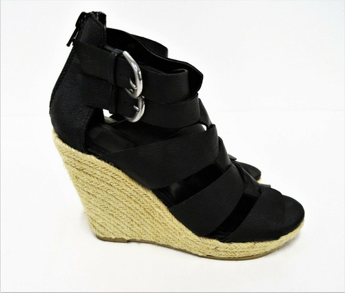 Dolce Vita For Target Women's Black Strappy Espadrille Wedge Sandals - Size 6