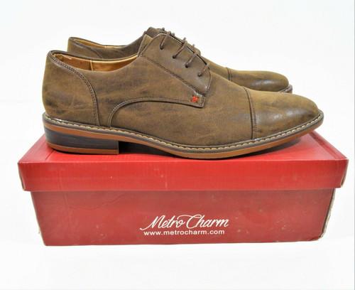 Metrocharm Men's Brown Classic Dress Shoe Size 13 - MC600