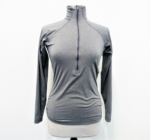 Nike Women's Gray Pro 1/4 Zip Pull Over Long Sleeve Running Shirt Size M