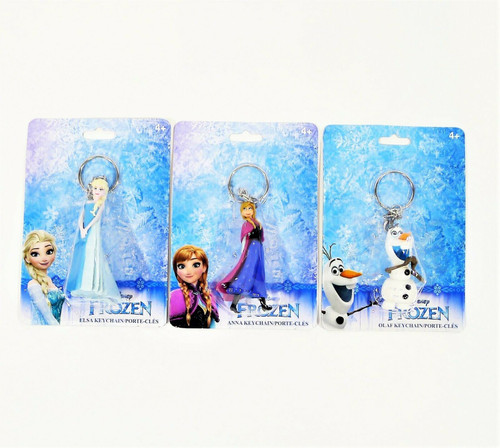 Set of 3 Frozen Key Chains Includes Elsa, Anna and Olaf - NEW SEALED