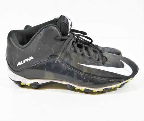 Nike Men's Black Alpha Shark 2 Athletic Cleats Size 12 Style 719952-002