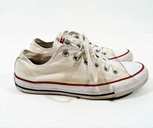 Converse Unisex White All Star Sneakers Men's 6.5 Women's 8.5