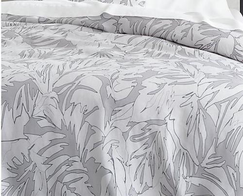 """CB2 Palm Grey Linen Full/Queen Duvet Cover Only 88"""" W x 92"""" H"""