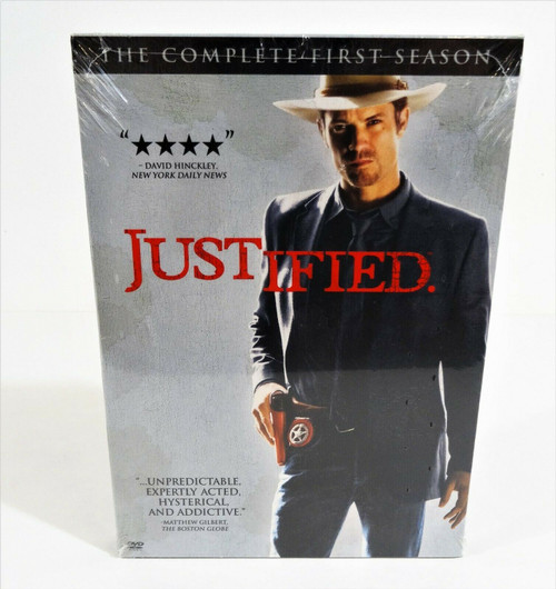 Justified: The Complete First Season (DVD, 2011, 3-Disc Set) Sealed