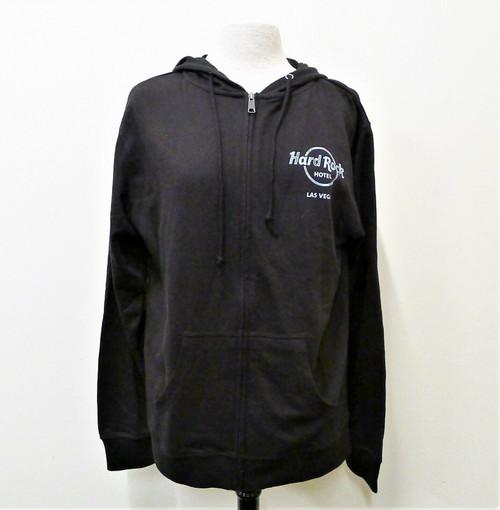 Delta Fleece Black Las Vegas Hard Rock Hotel Jacket Size L - NEW WITH TAGS