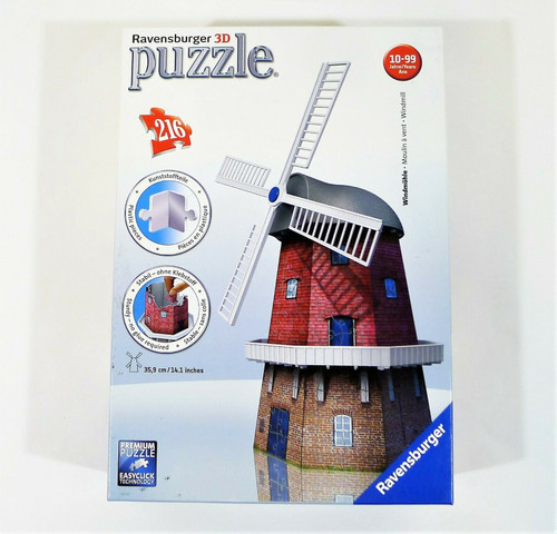 Ravensburger Windmill 216pc 3D Jigsaw Puzzle COMPLETE/INCOMPLETE??