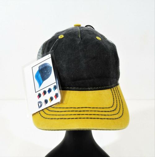 Adams Evolution Cap Charcoal Gray/Yellow Twill/Mesh - Style EN102 - NWT
