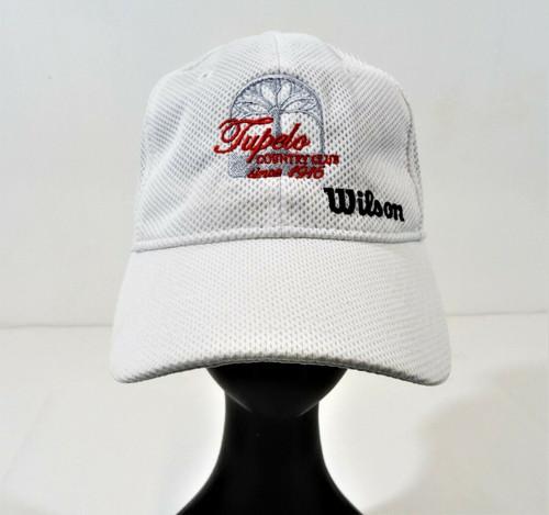 Wilson White Summer Cap *Customized Country Club* Size OSFA - NWT