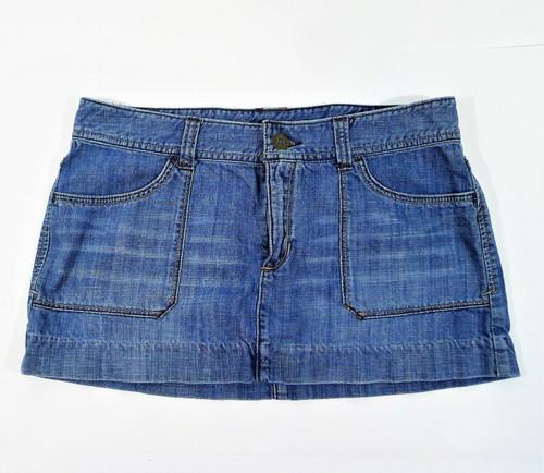 Abercrombie & Fitch Women's Blue Denim Mini Skirt Size 8