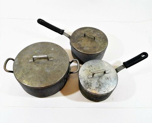 6 Piece Magnalite GHC Cookware with Lids Includes 2QT, 3QT and 5QT Vintage? USED