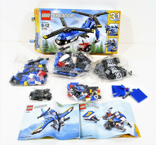 Lego Creator Twin Spin Helicopter Item 6135634 - COMPLETE/INCOMPLETE??