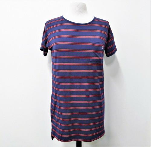 Vans Women's Blue Striped T-Shirt Dress Size XS
