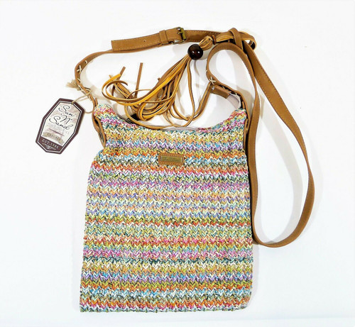 Sun 'N' Sand Multicolor Nylon Weave Tassel Crossbody Purse - NEW WITH TAGS