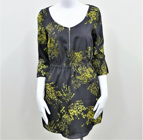 Zara Collection Women's Black & Yellow Mod Dress Mini Size Small NWT