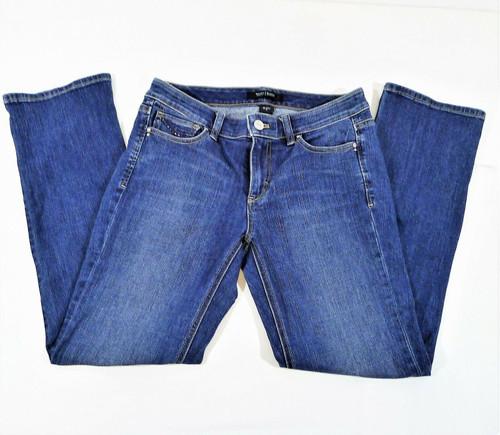 White House Black Market Women's Blue Denim Blanc Capri Jeans Size 4