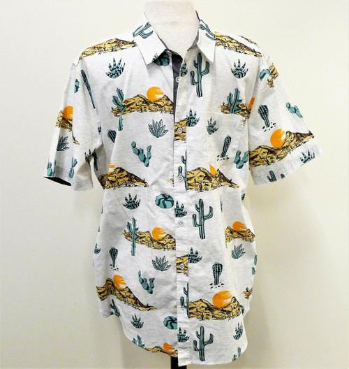 Retrofit Men's Button Shirt Cactus Desert Southwest Mid Century - Size XL- NWT