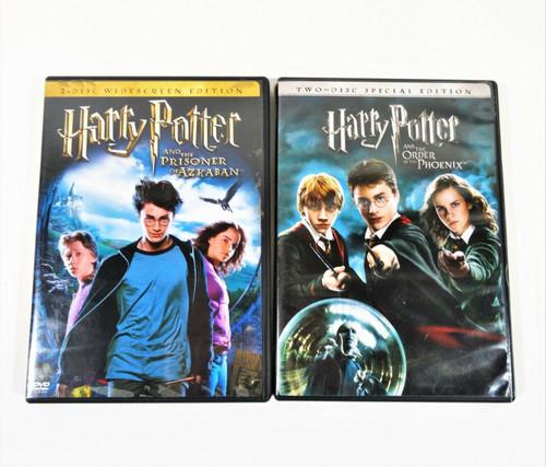 Harry Potter Prisoner of Azkaban & Order of the Phoenix Special Widescreen DVD's