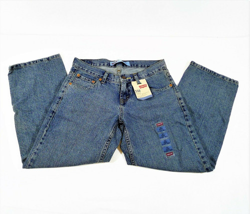 Levi's Boys Blue 550 Relaxed Tapered Legs Jeans Size 10 Husky 30 x 26