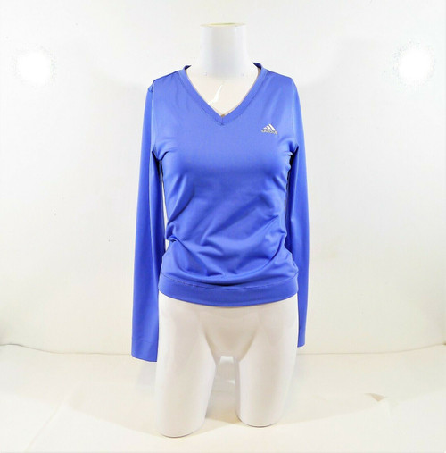 Adidas Women's Blue Climate Long Sleeve Climalite Shirt Size S