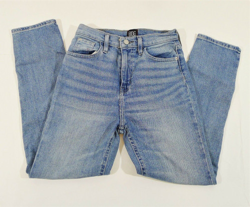 BDG Urban Outfitters Blue Girlfriend High Rise Cropped Camden Jeans Size 26