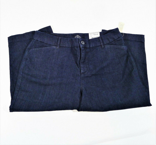 St. John's Bay Women's Dark Blue Mid Rise Capri Jeans Size 12 - NEW WITH TAGS