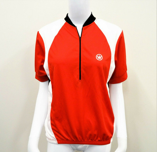 Canari Men's Red White & Black Cycling Top Short Sleeve Size Small - NWT