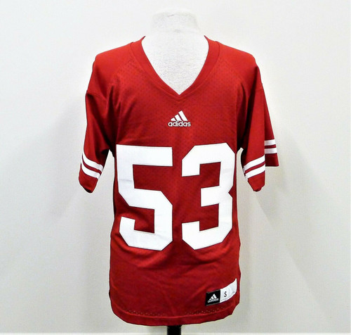 Adidas Men's Red Wisconsin Badgers # 53 Jersey Size S