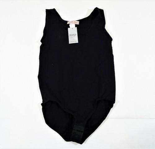 Krisp London Women's Black Bodice Body Bodysuit Small S/M - NEW
