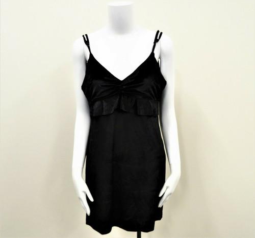 Honey Belle Women's Black Velvet Strappy Sleeveless Mini Dress Size Small