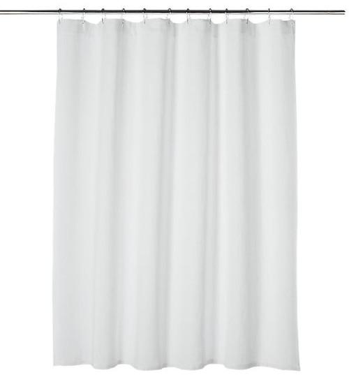 "CB2 Ezra White Shower Curtain 72"" W x 72"" H **DISCOLORATION SEE DESCRIPTION"