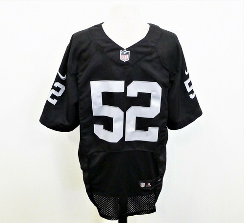 Oakland Raiders Men's Black Nike #52 Khalil Mack Game Jersey Size M **SEE DESCR.