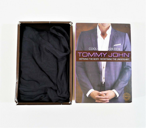 Tommy John Black Cool Cotton Stretch V Neck Undershirt Size M - OPEN BOX
