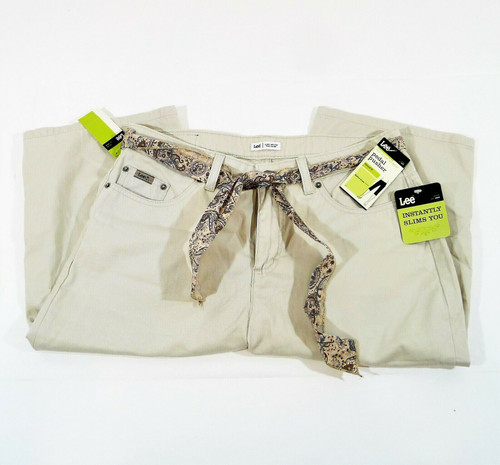 Lee Women's Tan Just Below the Waist Tummy Control Pedal Pushers Size 12 - NWT