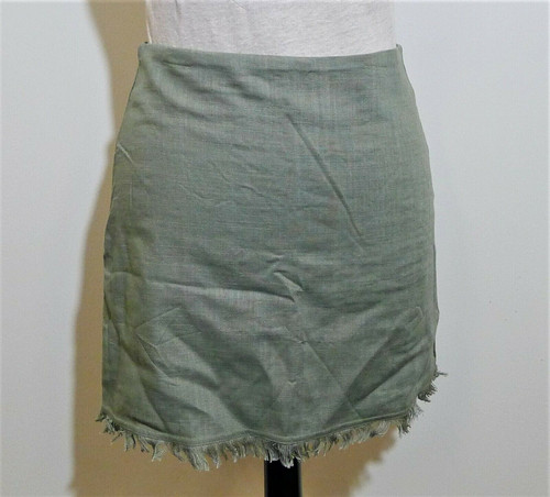 Showpo Women's Sage Late Breakfast Linen Mini Skirt Size 6 - NEW WITH TAGS