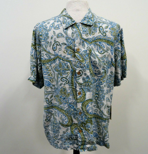 Caribbean Joe Men's Rivers End Shirt Size Large NWT