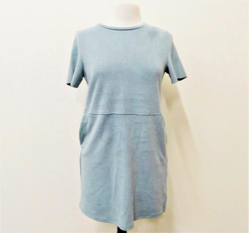 Zara Sage Green Pocket Mini Tunic Dress Size S- NEW WITH TAGS