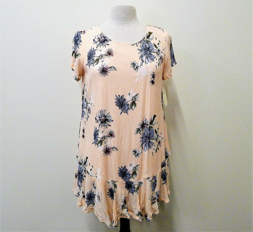 Altar'd State Women's Peach Floral Mini Dress Size S - NEW WITH TAGS