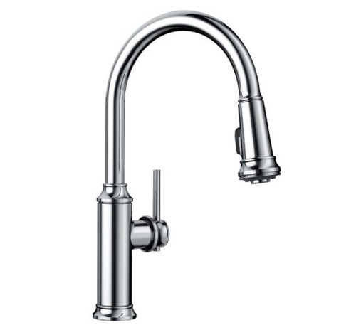 Blanco Empressa Single-Handle Pull-Down Kitchen Faucet in Polished Chrome 442501